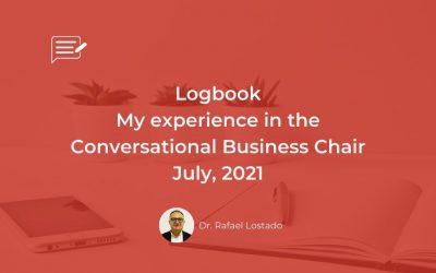 Logbook: Conversational Business Chair, July, 31