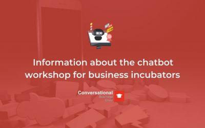 Information about the chatbot workshop for business incubators