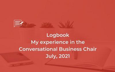 Logbook: Conversational Business Chair, July, 21